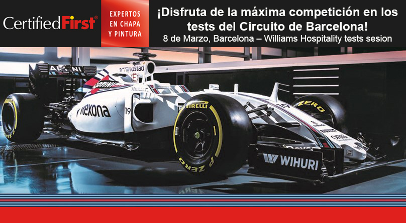 CertifiedFirst sortea una experiencia en la Williams Hospitality tests sesion